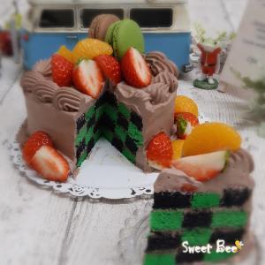 アレ柄のケーキ~①(≧▽≦)
