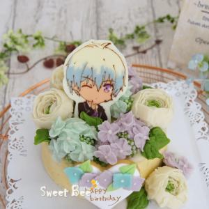 あんこのフラワーケーキ♡