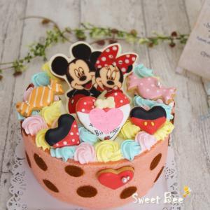 ミッキーミニーなケーキ♡