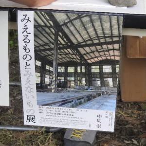 朽ちたJR宇和島駅運転区扇形車庫と彼岸花にアゲハ蝶♪