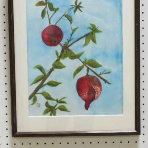チャーチル会宇和島展の絵画(その1)とエニシダの花♪