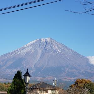 富士山に雪がない。