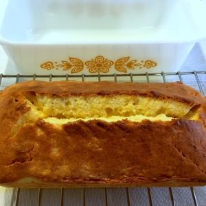 パイレックスのローフディッシュで柚子パウンドケーキ