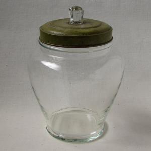 レトロガラスの可愛い菓子瓶 あめや瓶