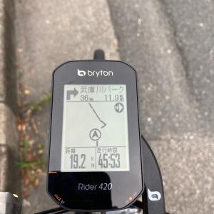 Bryton Rider420 で初めてルートナビを使ってみたよ