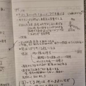 倒れて間もないころの文字の練習帳を見つけた