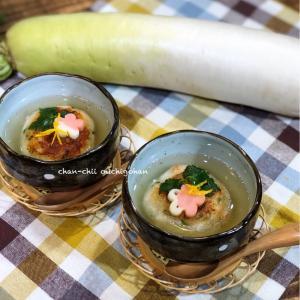 【レシピ】ほっこり優しい美味しさ♡大根しんじょうの柚子あんかけ♪ と 明日は。