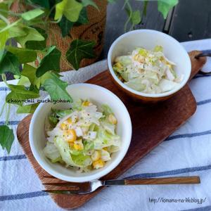 【レシピ】5分レシピ♡びっくりドンキー風マヨネーズで♪レタスとハムのサラダ♡ と 夏感。