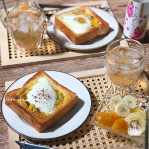 【レシピ】ボリュームたっぷり♪コーンエッグトースト♡ と 親子クッキング。