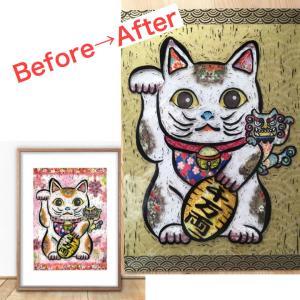 金運を招く招き猫&狛犬さん 生まれ変わりました!