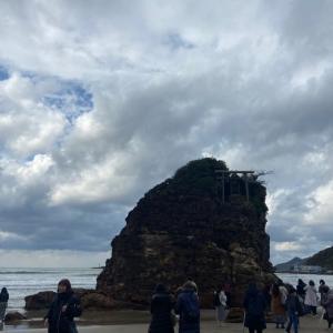 稲佐の浜で見えた神様の雲(出雲大社 神在祭)