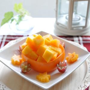色鮮やかな橙色、柿は映えます~♪