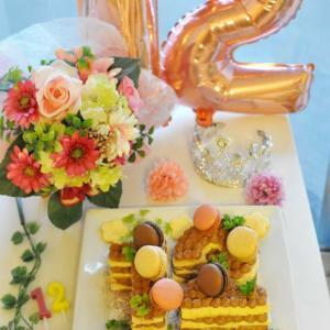 バースデーケーキは「12」ナンバーケーキ♪