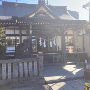 産土神社に初詣