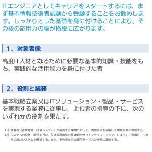 情報処理技術者試験を受験します。