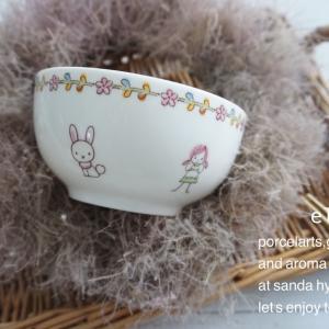 優しいお色使いのお茶碗♡