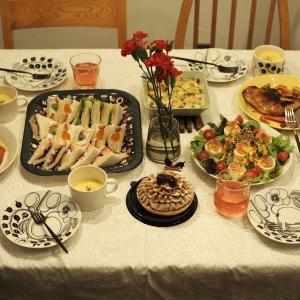 クリスマスおうちご飯と、MAX MATERIAのマフラー