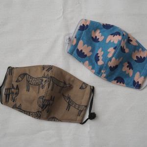 ハンドメイド布マスクと、ポチレポ。