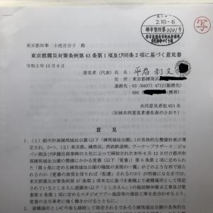東京都震災対策条例第43条第1項及び同条2項に基づく意見書(提出版)