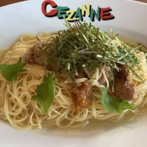 南高梅と揚げ鶏の冷製カッペリーニ★セザンヌ