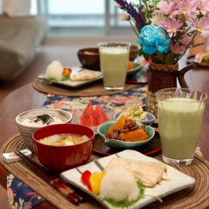朝食*鯖の西京焼き、南瓜のいとこ煮*義父のカミングアウト