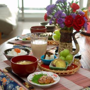 朝食*いわしの蒲焼き、焼き芋*有酸素運動20分以上のナゾ
