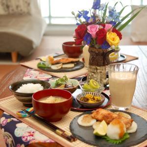 朝食*秋鮭のみりん漬け、茄子の煮浸し*くだらない夫婦の諍い