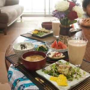 朝食*黒鯛の青海苔ムニエル、山芋の梅肉和え*Amazon プライムデーと楽天マラソン