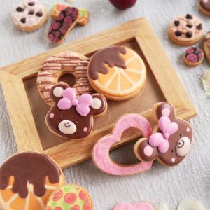 りぼんクマ♡アイシングクッキー