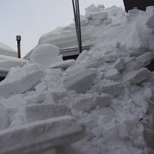 落雪防護柵を作る