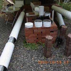 2重煙突工事(4) 耐熱塗装