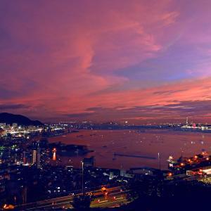 関門海峡の花火1
