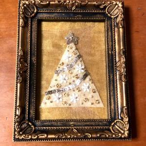 ビーズ刺しゅうで作るクリスマスツリーの飾り