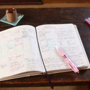 わたしの今年のスケジュール帳の書き込みの様子。。。