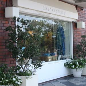 芦屋の「CHECK & STRIPE」と、甲子園の土