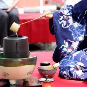 禅語「主客一体」:ただお茶が美味しいだけでなく、亭主とお客様が一体となってお茶会は作り上げます。