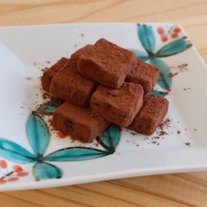 生チョコを作る。