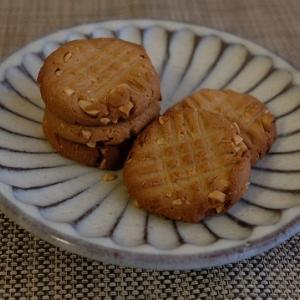 おやつの第2弾は、ピーナッツクッキー。