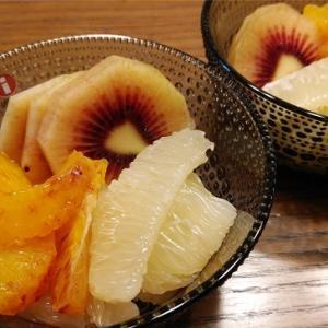 キウイ(レッド)とブラッドオレンジ、ゆげひょう柑。