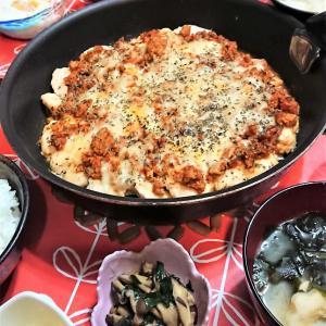 ワーママの工夫料理。早い!安い!旨い!【鶏むね肉のミートチーズ焼き de 夕食】。と、アメトピ。