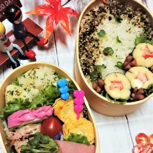 【息子弁当】お弁当に秋の風景を演出!?【過ぎゆく秋弁当】
