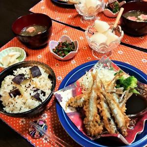 旬食材を食卓に!【さつま芋の炊込みご飯&ワカサギの唐揚げde夕食】。と、アメトピと…。