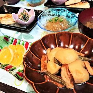 【おうちごはん】好きなものから先に食べる息子?【じゃが芋と角天の煮物de和食な夕食】