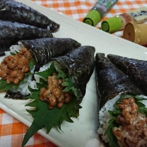 【レシピ】今さら知った!?綺麗な手巻き寿司の巻き方【3種の納豆巻き】。おまけ…大葉の保存。