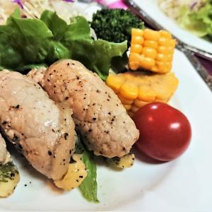 【レシピ】巻いて焼くだけ!肉好き息子大絶賛!【豚肉の梅しそチーズソテー】。お弁当にも!