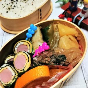 【息子弁当】和食には・・・わっぱ弁、やっぱステキ♪【和食2段わっぱ弁当】