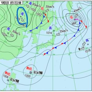 19@[weather]09月20日【シベリアで冷え込み始まる。】