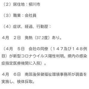 20@04月08日【柳川市で3人目、筑後市で2人目】