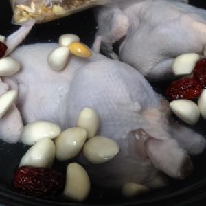 参鶏湯とクーパンとか