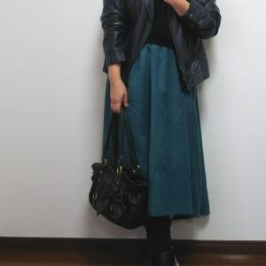 4色イロチ買いしたニット×スカートでイベントへ